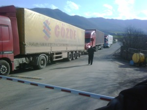 Turkish trucks at Armenian border